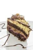 Una torta con las avellanas Imágenes de archivo libres de regalías