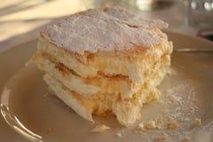 Una torta crema deliziosa Immagine Stock Libera da Diritti