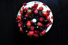 Una torta de la fruta del top Fotos de archivo