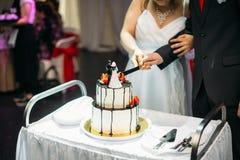 Una torta di cerimonia nuziale Immagine Stock Libera da Diritti
