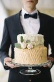 Una torta di cerimonia nuziale Fotografia Stock Libera da Diritti