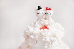 Una torta di cerimonia nuziale Fotografie Stock