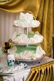 Una torta di cerimonia nuziale Fotografie Stock Libere da Diritti