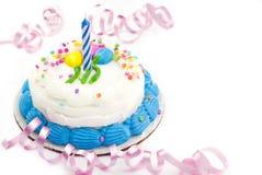 Una torta di compleanno di anno Fotografie Stock