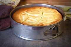 Una torta di formaggio presa appena dall'Owen Immagini Stock