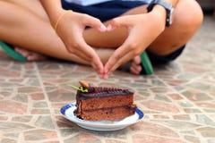 Una torta para los amantes del chocolate Fotos de archivo libres de regalías