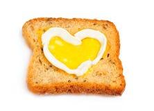Una tostada con el corazón Imagen de archivo