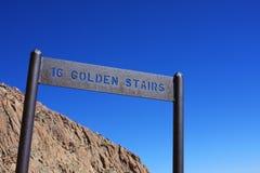 Una traccia dorata delle 16 Scale-Barr, picco dei lucci Fotografia Stock