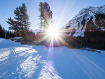 Una traccia in Klosters Immagine Stock Libera da Diritti