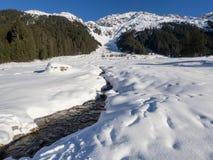 Una traccia in Klosters Fotografia Stock Libera da Diritti