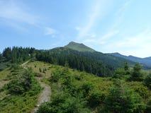 Una trayectoria de la montaña al top de la gama de Marmaros Fotografía de archivo
