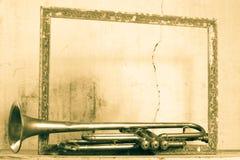 Una tromba a partire dagli anni 40 con un chiaro e chiaro suono ancora Immagine Stock Libera da Diritti