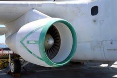 Una turbina militar vieja del jet Foto de archivo