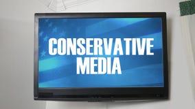Una TV que exhibe el mensaje sobre medios conservadores libre illustration