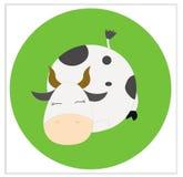 Una vaca agradable el dormir ilustración del vector