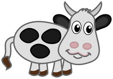 Una vaca lechera feliz Fotografía de archivo libre de regalías