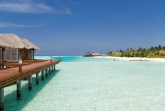 Una vacanza perfetta nei Maldives. Immagini Stock