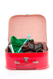 Una valigia di ricambio variopinta Fotografia Stock