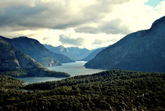 Una valle in Bariloche Fotografia Stock Libera da Diritti