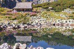 Una valle di cinque laghi - montagne di Tatra, Polonia. Fotografia Stock