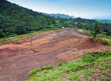 Una valle di 23 colori del parco della terra in Giumenta-aus.-Aiguilles Fotografie Stock
