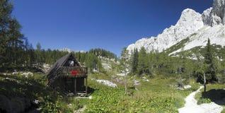 Una valle di sette laghi Triglav nelle alpi di Julian Fotografia Stock