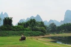 Una valle di Slient del fiume di Lijiang Fotografia Stock