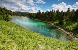 Una valle di un panorama di cinque laghi Fotografie Stock Libere da Diritti