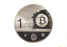 Una valuta cripto del bitcoin del centesimo Immagini Stock