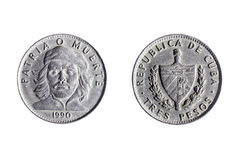 Una valuta cubana di tre pesi Immagini Stock Libere da Diritti