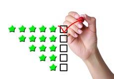 Una valutazione delle cinque stelle immagini stock