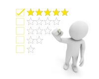 Una valutazione delle cinque stelle fotografia stock