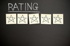 Una valutazione di cinque stelle Fotografia Stock