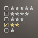 Una valutazione di 2 stelle Immagini Stock