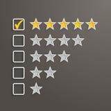 Una valutazione di 5 stelle Fotografia Stock