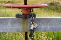 Una valvola bloccata Fotografie Stock