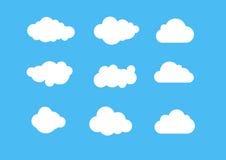 Una variedad de blanco se nubla el icono ilustración del vector