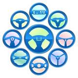 Una variedad icono del volante Foto de archivo