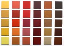 Una variedad textura del cuero del color Foto de archivo