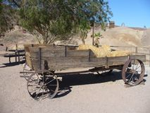 Una vecchia biga nella città fantasma di calicò nel Nevada Fotografia Stock