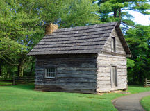 Una vecchia, cabina conservata nella Virginia fotografia stock