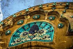 Una vecchia cartolina di una costruzione storica Timisoara Immagini Stock Libere da Diritti