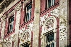 Una vecchia cartolina di una costruzione storica Timisoara Fotografia Stock