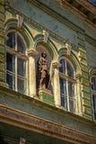 Una vecchia cartolina di una costruzione storica Timisoara, Romania 25 Fotografia Stock Libera da Diritti
