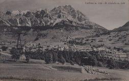 Una vecchia cartolina monocromatica Fotografie Stock Libere da Diritti