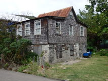 Una vecchia casa caraibica Immagine Stock