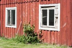 Una vecchia casa nel sud della Svezia fotografia stock