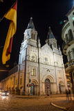 Una vecchia chiesa a Cuenca del centro, Ecuador Fotografie Stock Libere da Diritti