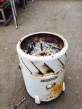 Una vecchia lavatrice Immagini Stock