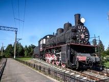 Una vecchia locomotiva Immagine Stock